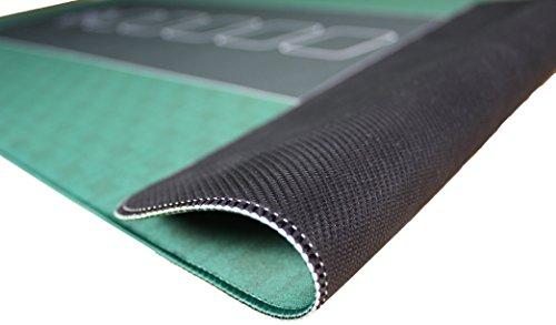 Profi Pokermatte grün in 100 x 60cm von Bullets Playing Cards für den eigenen Pokertisch – Deluxe Pokertuch – Pokerteppich – Pokertischauflage – ideal als Geschenk - 2