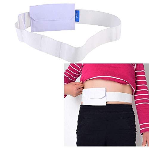 Tubo di alimentazione cintura G Tubi Catetere Titolare Dialisi Peritoneale Gastrostomia Peg Tube Forniture Copertura Borsa Drenaggio Addominale Fissaggio Cintura di Cura Medica per Pazienti (Bianco)