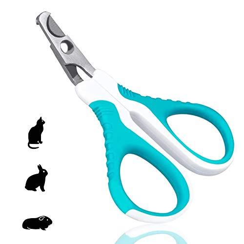 EQLEF Tagliaunghie Cani, Tagliaunghie per Animali Domestici per Gatti e Cuccioli, robuste Forbici per Unghie in Acciaio Inossidabile per Forbici per Gatti in Acciaio Inossidabile