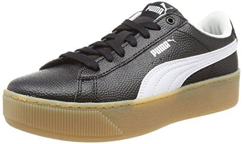 PUMA Damen Vikky Platform Vt Sneaker, Schwarz Black White, 40 EU