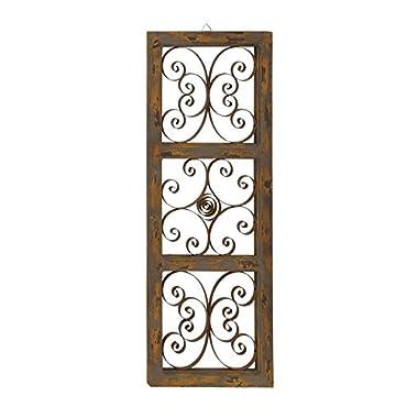 Deco 79 55258 Wood Metal Wall Panel, 14  x 36
