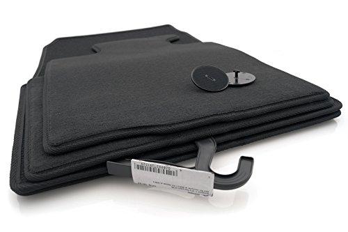 KH Pièces Tapis/Tapis Tapis de voiture en velours original qualité plastique 4 pièces Noir.