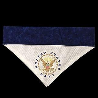 US Navy Dog Bandana/Over the Collar Dog Bandana/Embroidered Personalized Dog Bandana (All Sizes)