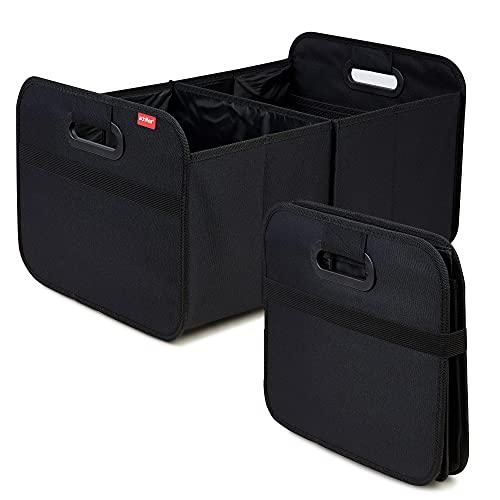 achilles Auto Faltbox, Einkaufstasche, Kofferraum-Organizer, Faltbare Autotasche, Faltkorb, Aufbewahrung Taschen, Kofferraumtasche, schwarz, 50 cm x 32 cm x 27 cm