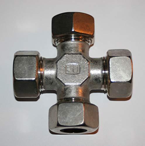 22MM OD Tube Hi-Pressure Hydraulic SS Cross DIN Fitting Ermeto Parker K22L71