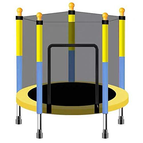 FSGD Trampolino per Bambini, Trampolino Elastico, Diametro 110 cm, Rete di Protezione, Trampolino da Giardino Ideale per Regalo di Compleanno per Bambini,Doublecolor,110CMstyle