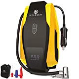 Helteko Air Compressor Tire inflator DC 12V, Portable Car Tire Pump w/Emergency LED Light, Long Power Cord, Auto Shut Off, Carrying Case, Electric Air Pump for Car Tires Bicycle and Other Inflatables