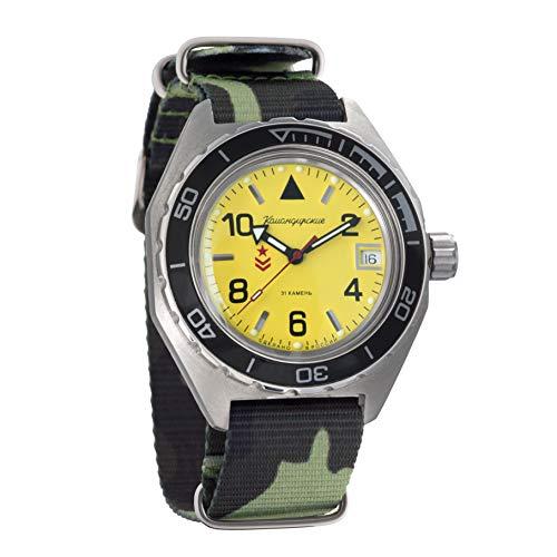 Vostok - Reloj de pulsera automático militar anfibio WR 200 m para hombre