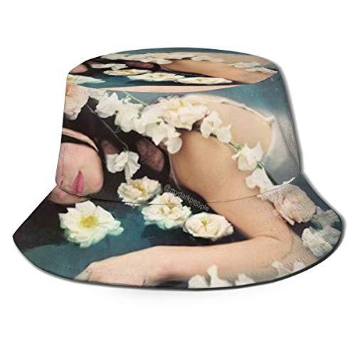 La-Na Del Rey - Sombrero de pescador unisex para hombre y mujer, diseño de pescador Amarillo Negro 2 Taille unique