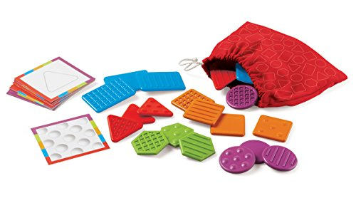 Learning Resources Teaching Tac-Tiles, Hands-on Learning, Ages 3+