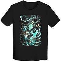 プリント 半袖シャツ メンズ T-Shirt Zelda-ゼルダの伝说 Tシャツ Black M