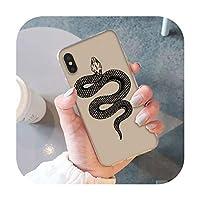 動物蛇とシダカラフルかわいい電話ケースfor iphone SE 2020 8 7 6 6S 6Plus X XS MAX 5 5S SE XR 10-Snake-iphone X