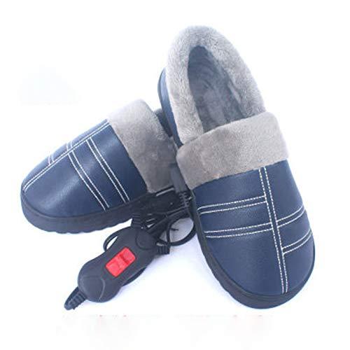 FFZW Zapatos De Calefacción Eléctrica, Zapatillas Térmicas De Mujeres para Invierno Zapatillas...