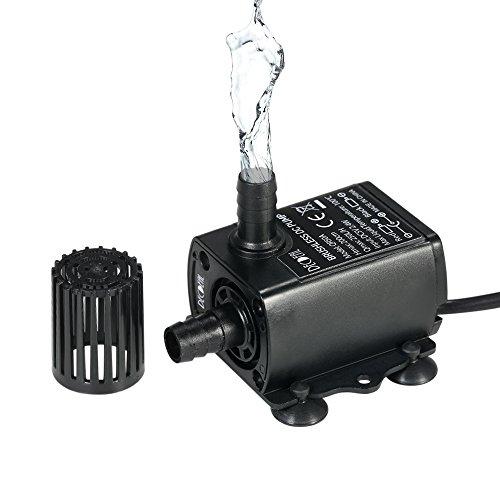 Decdeal USB DC5V 2.4W 250L/H Elevación 200cm Mini Bomba de Agua Ultrasilencioso, Sin Cepillo, Impermeable, Sumergible, para Circulación de Fuente Acuario