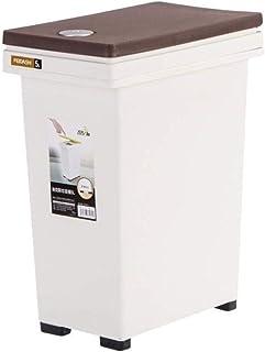 WWWXD Trash Can Rectangle, Bouton-Poussoir en Plastique Recyclage Poubelle Boîte à ordures ménagères for la Maison Salon C...