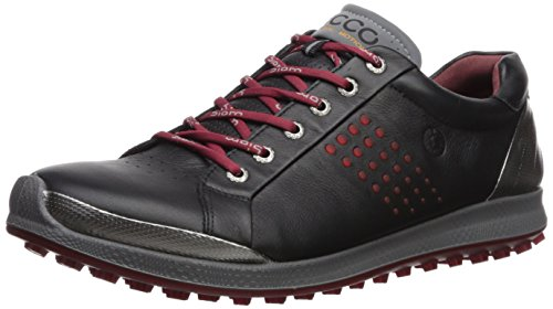 ECCO Men's Biom Hybrid 2 Hydromax Golf Shoe, Black/Brick, 40 M EU (6-6.5 US)