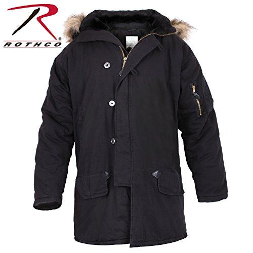 Rothco Vintage N-3B Parka, Black, L