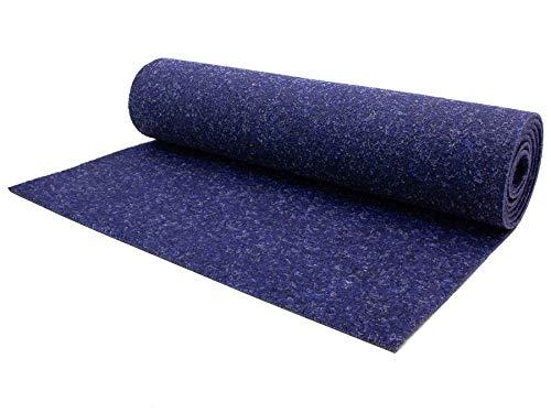 Nadelfilz Meterware TURBO B1 – Blau, 2,00m x 3,00m, Robuster, Trittschalldämmender Teppich Bodenbelag für Wohn- und Büroräume