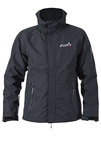 iFLOW Herren Glacier Jacket Dark Grey Man Ski Jacke, S