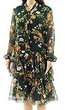 Ralph Lauren $165 Womens New 1186 Green Multi Floral Georgette Dress 14 B+B
