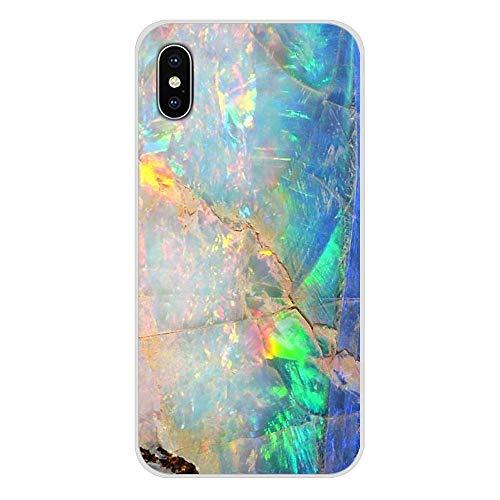 HUAI For Samsung Galaxy S2 S3 S4 S5 S6 S7 S8 S9 S10E Lite Plus Accesorios de Shell del teléfono Cubiertas de Piedra del ópalo iridiscentes (Color : Images 6, Material : For Galaxy S9)