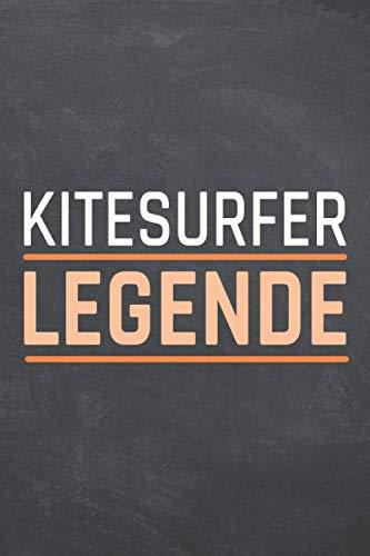 Kitesurfer Legende: Kitesurfer Punktraster Notizbuch, Notizheft oder Schreibheft - 110  Seiten - Büro Equipment & Zubehör - Lustiges Geschenk zu Weihnachten oder Geburtstag
