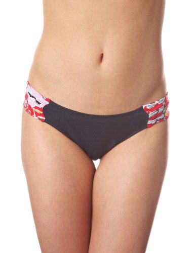 Panache Swim Loren Gathered Ruched Side Swim Bikini Bottom #SW0514 - Red/Floral, UK 14