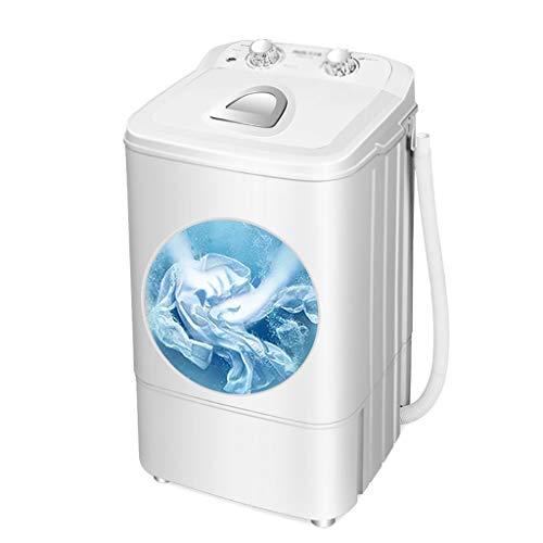 YXWxyj Lavadoras 2 en 1 portátil Lavadora Semi-automática, Independiente Lavadora, Desmontable con Drenaje Cesta, el 4,6 Kg de lavandería, luz UV púrpura (Color : White)