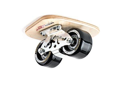 TWOLIONS pro Skates-Drift Skate,Stahl-Ahorn/Holz 72mm PU Räder und ABEC 7 Kugellager,Skates Aluminum Alloy Drift Roller Skateboard -Cloud-Totem(links & rechts) (Schwarz)