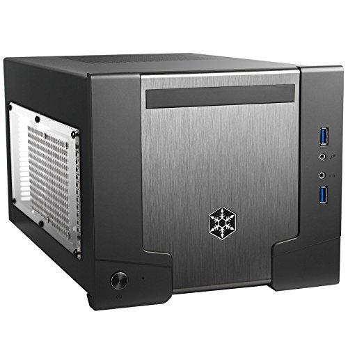SilverStone SST-SG07B-W USB 3.0 - Sugo Mini-ITX Compact Computer Cube Case, 600W, nero