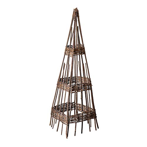 Garden Obelisk Trellis for Outdoor Plants, Natural Willow Branches Plant Support Tower