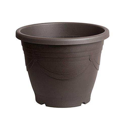 スドー メダカの深鉢 黒茶 13号