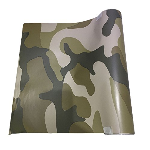 Sedeta 10x152cm PVC Film Premium Selbstklebende Auto Aufkleber Camouflage Tawny Film Roller Aufkleber Wrap