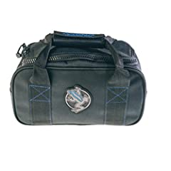 Dual heavy duty reinforced wrap-around handles with brass YKK #10 zipper and one #1 Zipper Head. Padded handle to comfortably carry weight. Boxed Stitch for added durability. PVC Coated Base for added durability. The Weight Bag is made by AKONA, an A...