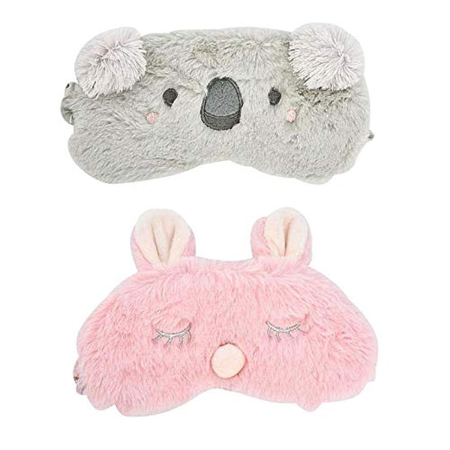 NOTE 1ピースウサギ/コアラスリーピングアイマスク昼寝漫画ぬいぐるみアイシェード睡眠マスクマッサージアイオンアイカバー