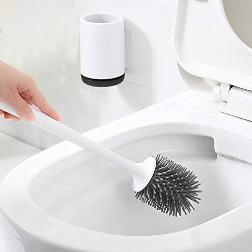 Tings Toiletborstel Rubberen houder Reinigingsborstel voor toilet Muurophanging Huishoudelijke vloerreiniging Badkameraccessoires, hangend aan de muur
