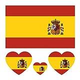 40 piezas Bandera País Tatuajes Temporales Nacional Fútbol Equipo Fútbol Calcomanías Campeonato Europeo EURO 2021 2020 Copa Mundo Cara Cuerpo Brazo Niño Adulto Impermeable (España)