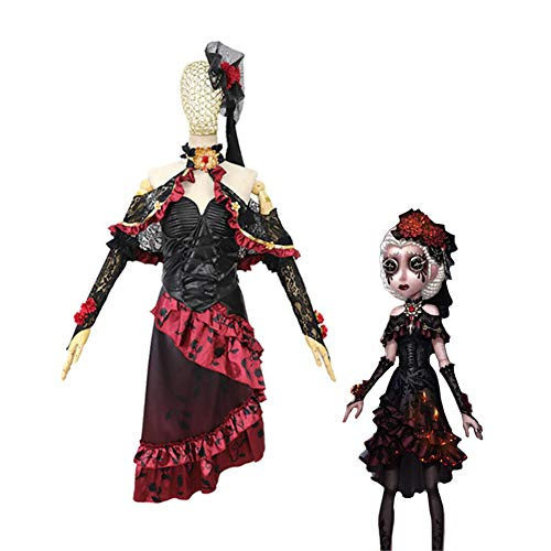CGBF -Adultos Anime Game Identity V Doctors Cosplay Disfraz de cmic para fiesta de disfraces uniforme, Halloween, carnaval, negro, S
