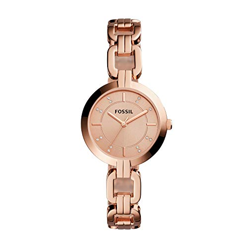 Fossil Women's Kerrigan Quartz Stainless Three-Hand Watch, Color: Rose Gold (Model: BQ3206)