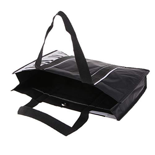 B Baosity Handtasche Damen Umhägetasche Große Schultertasche Reisetasche für Schule Shopping Arbeit Einkauf, Wasserdicht, Schwarz