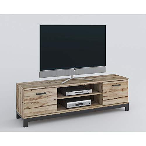roominado Lowboard TV-Kommode Fernsehtisch NINA 170x51cm Rustic-Buche massiv geölt NEU/OVP