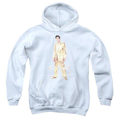 Elvis Presley - - Jugend Goldlame Anzug Kapuzenpulli, X-Large, White