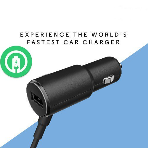 Turbo Fast Powered 25W Car Charger Works for Motorola Moto X Pure Edition (2015) with Extra USB Port and Long Hi-Power MicroUSB Cable!