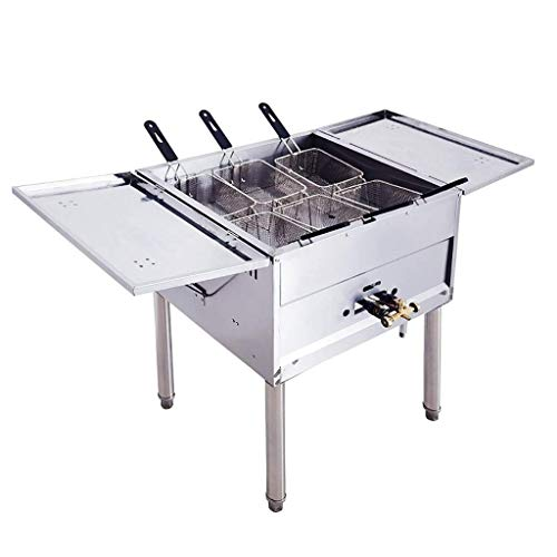 GCZZYMX Deep Fryer Commercial Vertical Large-Capacity Fried Chicken Fries Machine Gas Deep Fat Fryer High Pressure Stove High Pressure Valve,650550850mm