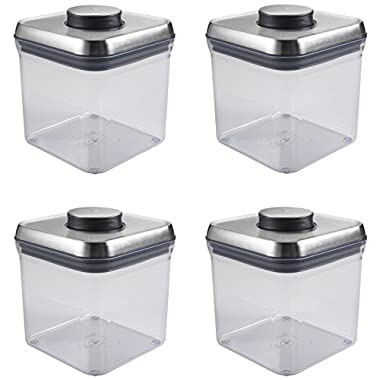 OXO SteeL POP 2.4-Quart Square Container (Set of 4)