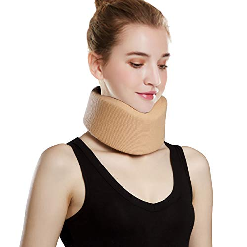 Orthomen Neck Brace - Foam Cervical Collar - Adjustable Soft Support Collar Can Be Used During Sleep - Wraps Aligns and Stabilizes Vertebrae - Relieves Pain and Pressure in Spine(S)
