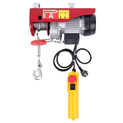 Ridgeyard Polipasto eléctrico con control Para talleres taller de la tienda casera (550W 125/250Kg)