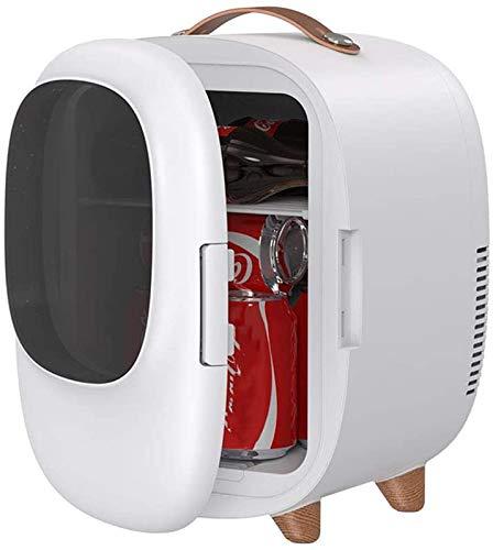 RENXR Mini Nevera Beauty De 8 litros Refrigerador Compacto Enfriador Y Calentador Personal Portátil AC/DC por Comida Protección De La Piel La Leche Materna Medicamentos,Blanco