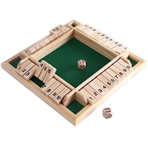 Juego de mesa de madera un clásico juego de matemáticas familiar, tablero de rompecabezas Sudoku de madera, juego de mesa de madera clásico de dados de juguete para niños fiesta familiar regalo