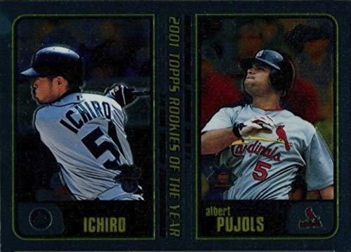 2001 Topps CHROME Traded & Rookies - ICHIRO Suzuki & Albert Pujols - Seattle Mariners Baseball Rookie Card RC #T99